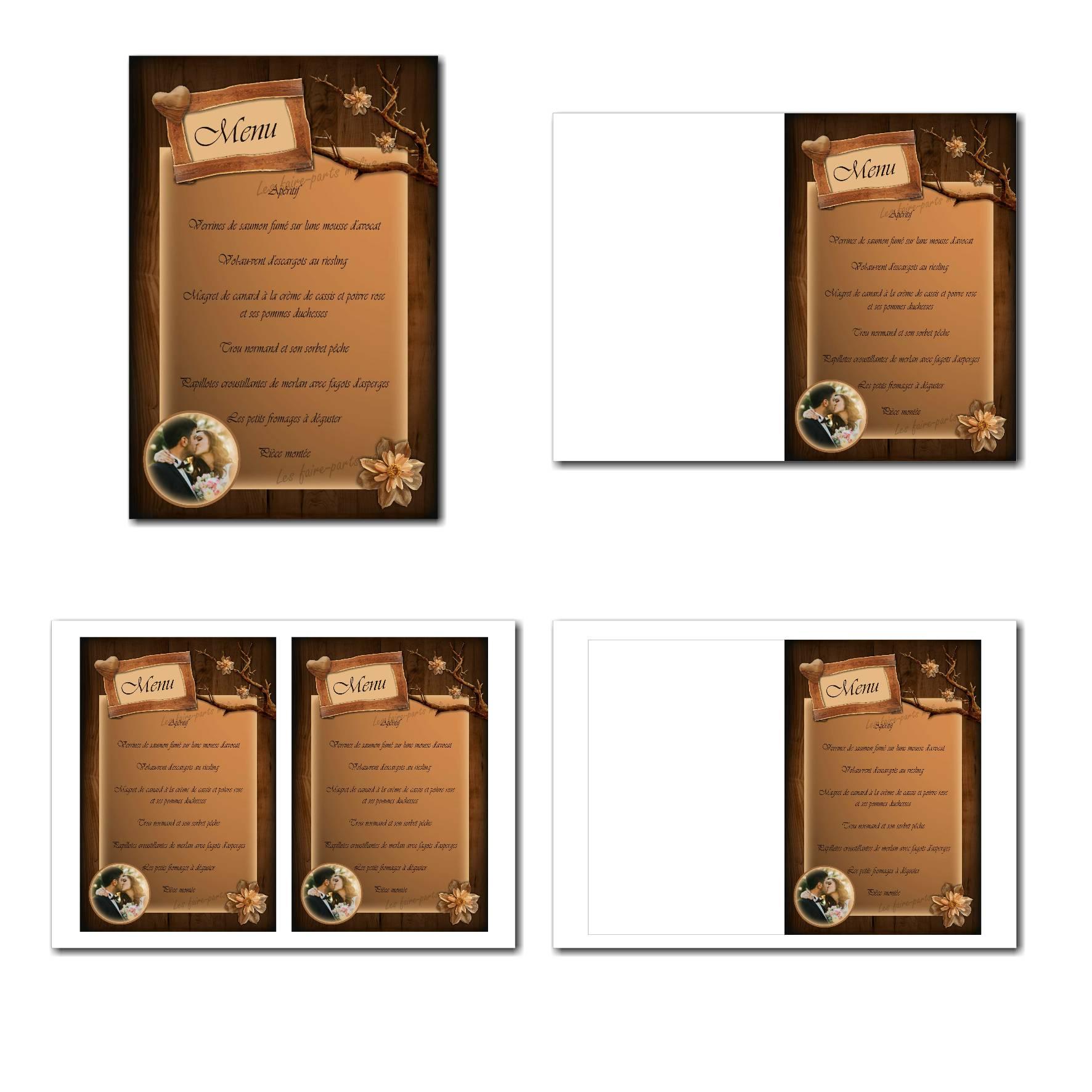 Pai 45 mariage menu 12x19