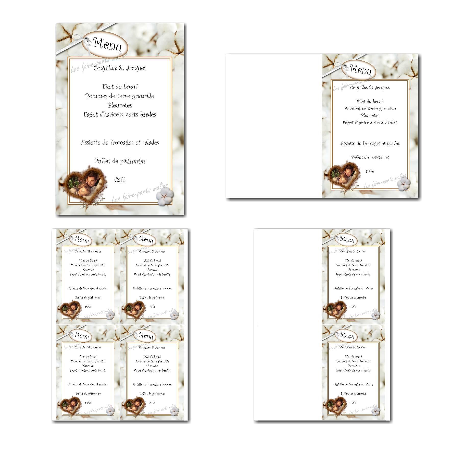 Pai 49 mariage menu 10x15