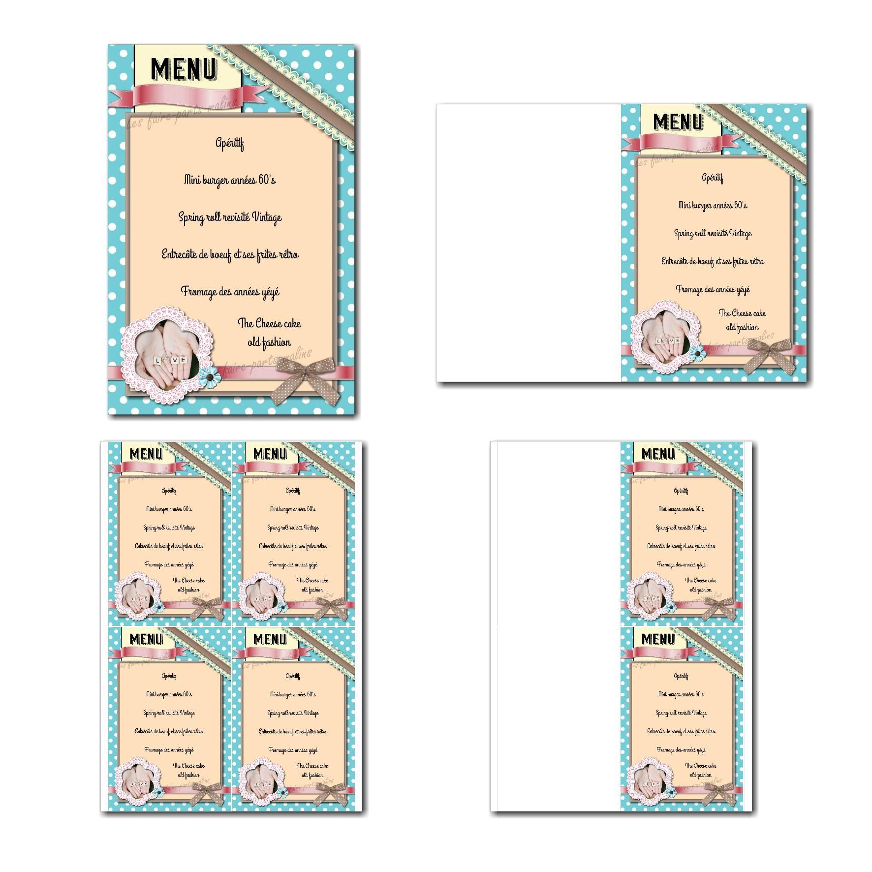 Pai 55 mariage menu 10x15