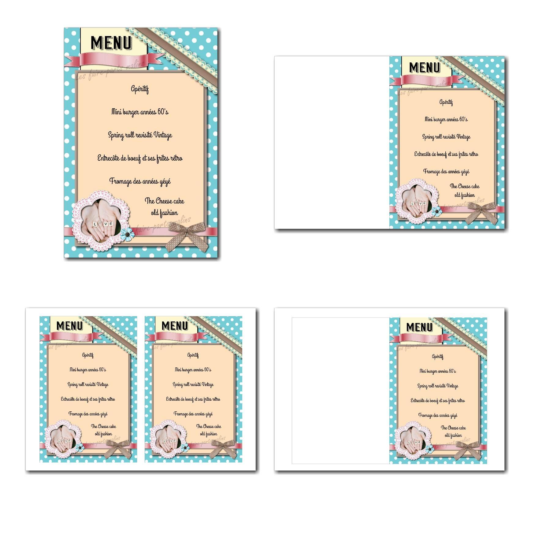 Pai 55 mariage menu 12x19