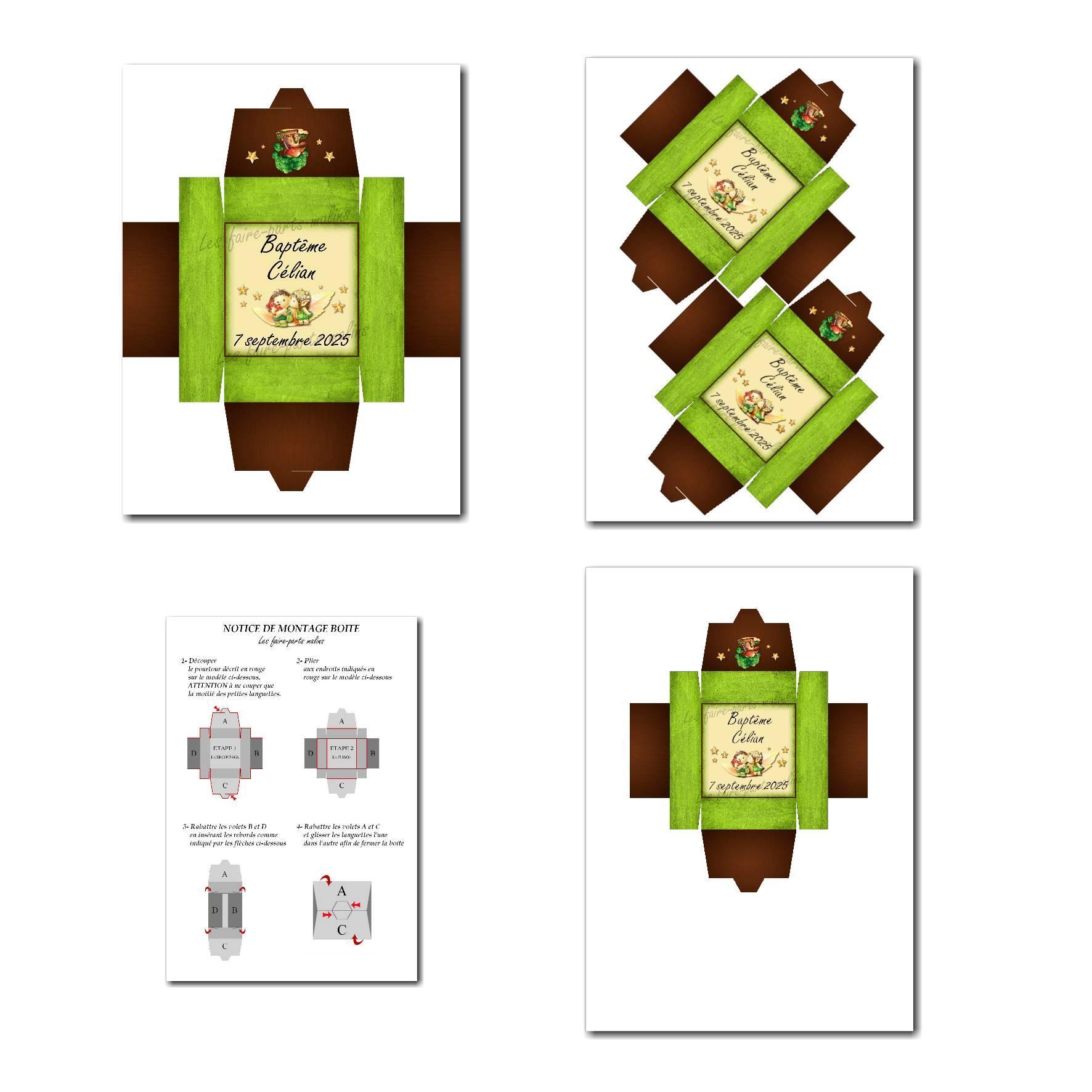 Boite à imprimer lutin vert